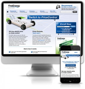 Responsive giveaway landing page