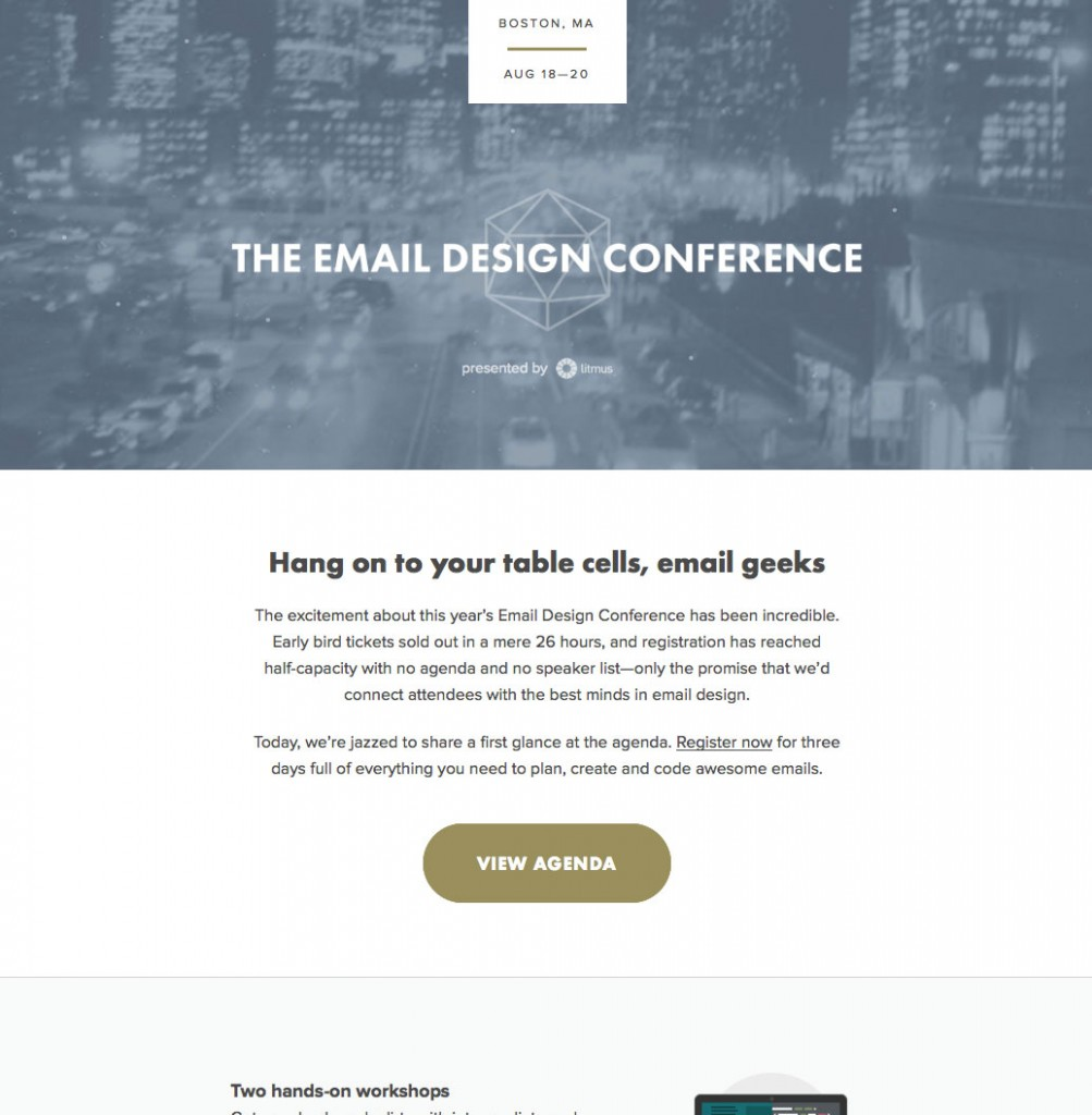Litmus email creative pick